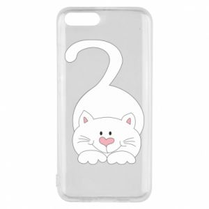 Phone case for Xiaomi Mi6 Playful white cat - PrintSalon