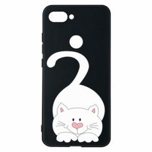 Phone case for Xiaomi Mi8 Lite Playful white cat - PrintSalon