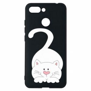 Phone case for Xiaomi Redmi 6 Playful white cat - PrintSalon
