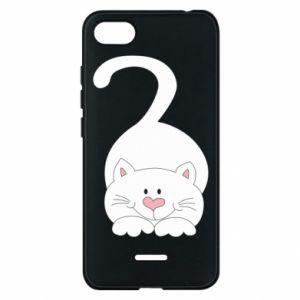 Phone case for Xiaomi Redmi 6A Playful white cat - PrintSalon