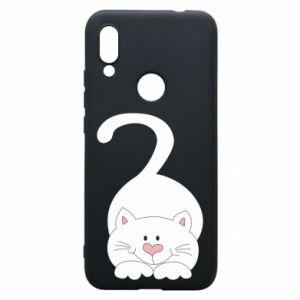 Phone case for Xiaomi Redmi 7 Playful white cat - PrintSalon