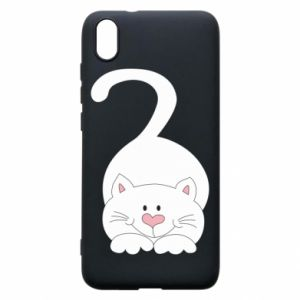 Phone case for Xiaomi Redmi 7A Playful white cat - PrintSalon