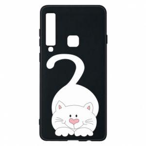 Phone case for Samsung A9 2018 Playful white cat - PrintSalon