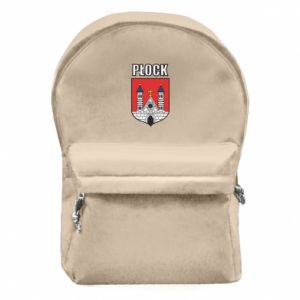 Backpack with front pocket Plock emblem