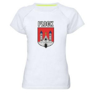 Women's sports t-shirt Plock emblem