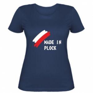 """Damska koszulka """"Made in Plock"""""""