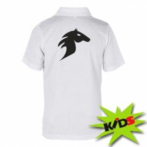 Dziecięca koszulka polo Płonący koń