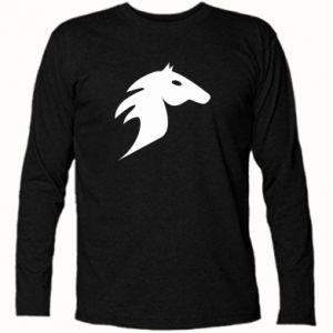 Koszulka z długim rękawem Płonący koń - PrintSalon