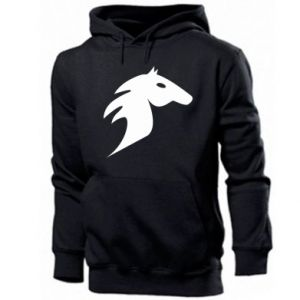 Męska bluza z kapturem Płonący koń