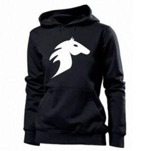 Damska bluza Płonący koń - PrintSalon