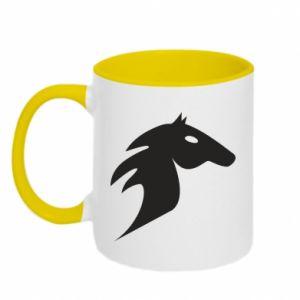 Kubek dwukolorowy Płonący koń