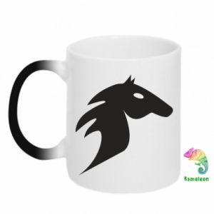 Kubek-kameleon Płonący koń