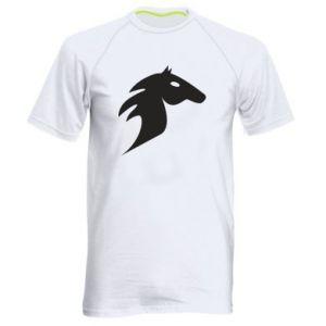 Męska koszulka sportowa Płonący koń