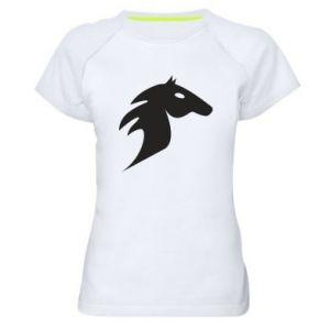 Women's sports t-shirt Horse flame