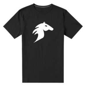 Męska premium koszulka Płonący koń