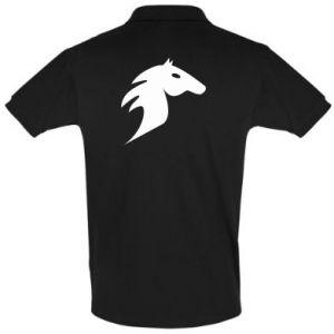 Koszulka Polo Płonący koń - PrintSalon