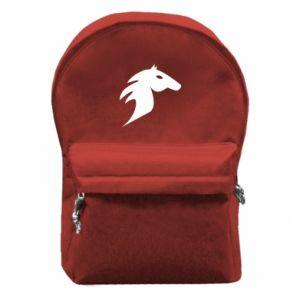 Plecak z przednią kieszenią Płonący koń - PrintSalon