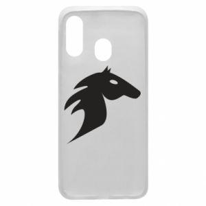 Etui na Samsung A40 Płonący koń