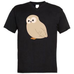 Męska koszulka V-neck Plump owl