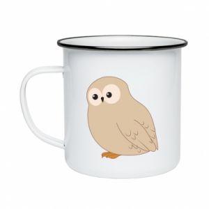 Kubek emaliowany Plump owl