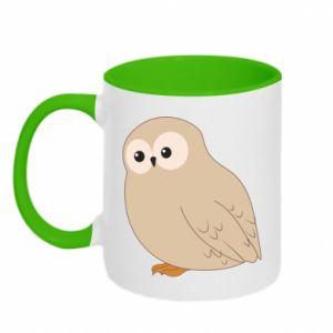 Two-toned mug Plump owl