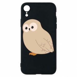 Etui na iPhone XR Plump owl