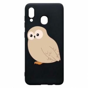 Etui na Samsung A20 Plump owl