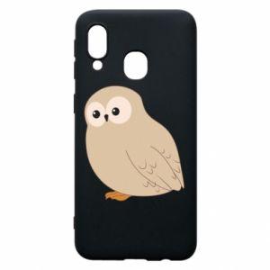 Etui na Samsung A40 Plump owl