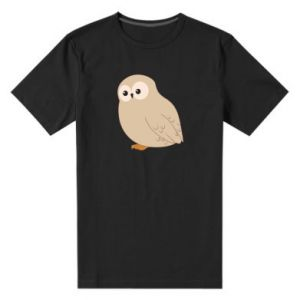 Men's premium t-shirt Plump owl