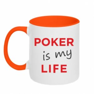 Kubek dwukolorowy Poker is my life