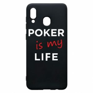 Samsung A30 Case Poker is my life