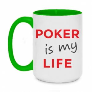 Two-toned mug 450ml Poker is my life