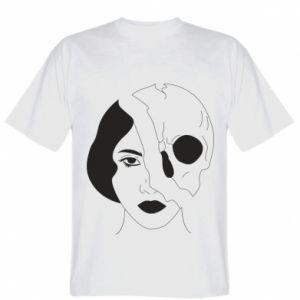Koszulka męska Pół czaszka pół twarzy