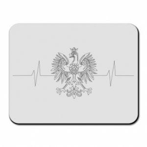 Podkładka pod mysz Poland cardiogram