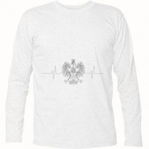 Koszulka z długim rękawem Poland cardiogram