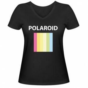 Damska koszulka V-neck Polaroid