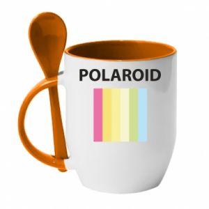 Kubek z ceramiczną łyżeczką Polaroid