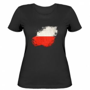Women's t-shirt Polish flag blot