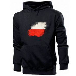 Męska bluza z kapturem Polish flag blot