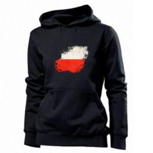 Damska bluza Polish flag blot - PrintSalon