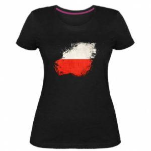 Damska premium koszulka Polish flag blot - PrintSalon
