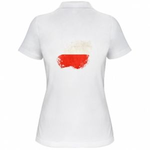 Women's Polo shirt Polish flag blot