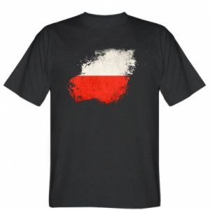 T-shirt Polish flag blot