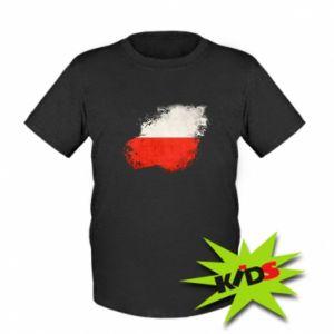 Dziecięcy T-shirt Polish flag blot