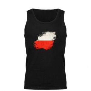 Męska koszulka Polish flag blot - PrintSalon