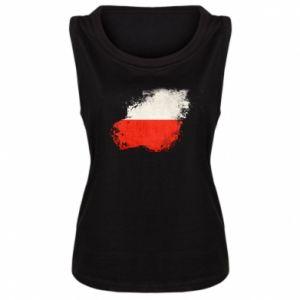 Damska koszulka Polish flag blot - PrintSalon