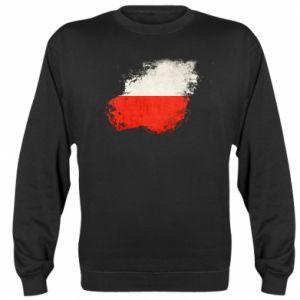 Bluza (raglan) Polish flag blot - PrintSalon
