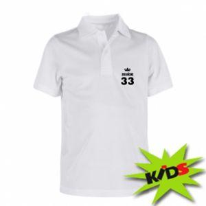 Dziecięca koszulka polo Imię, cyfra i korona - PrintSalon