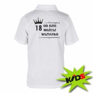 Children's Polo shirts Od dziś wszystko możliwe - PrintSalon