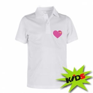 Children's Polo shirts Pink heart